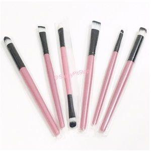 ❤️ Makeup Brush Tool Set 6pc Pink Black White New
